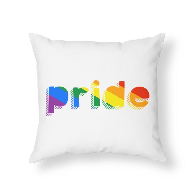 PRIDE Home Throw Pillow by LLUMA Design