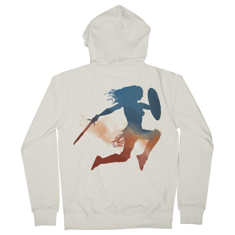 Wonder Woman Men's Zip-Up Hoody by LLUMA Design