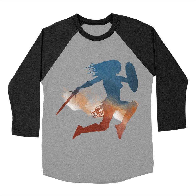 Wonder Woman Women's Baseball Triblend T-Shirt by LLUMA Design