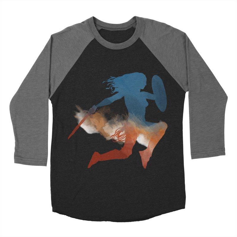 Wonder Woman Men's Baseball Triblend T-Shirt by LLUMA Design