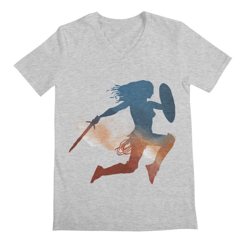 Wonder Woman Men's V-Neck by LLUMA Design