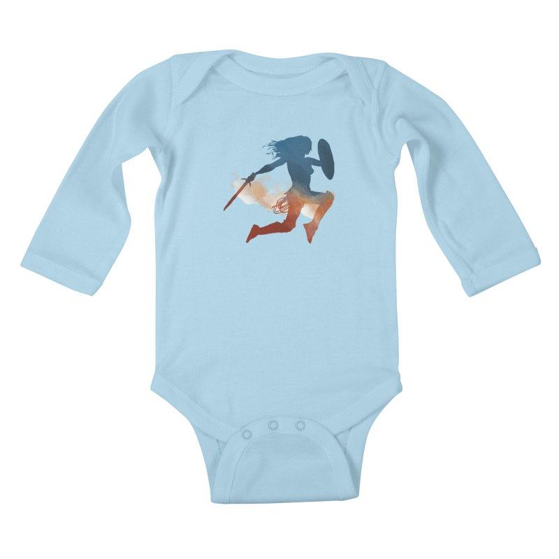 Wonder Woman Kids Baby Longsleeve Bodysuit by LLUMA Design