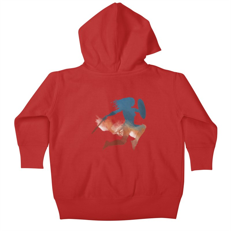 Wonder Woman Kids Baby Zip-Up Hoody by LLUMA Design