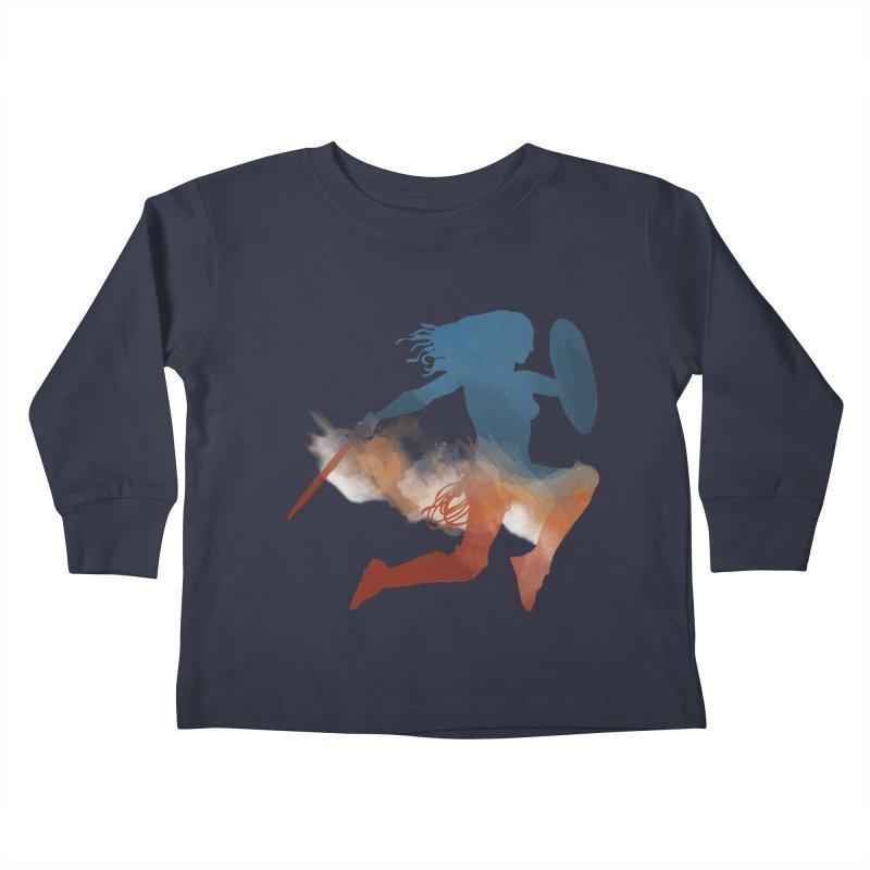 Wonder Woman Kids Toddler Longsleeve T-Shirt by LLUMA Design