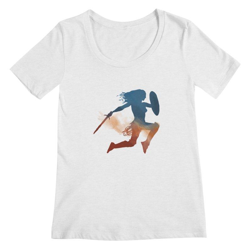 Wonder Woman Women's Scoopneck by LLUMA Design