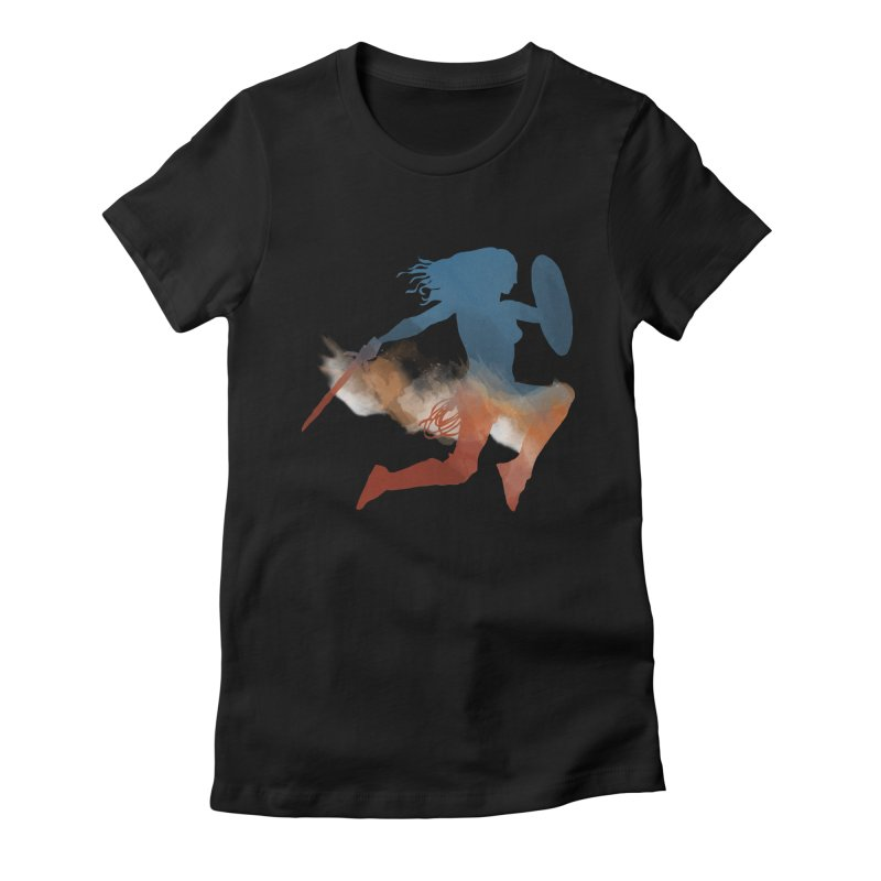 Wonder Woman Women's Fitted T-Shirt by LLUMA Design