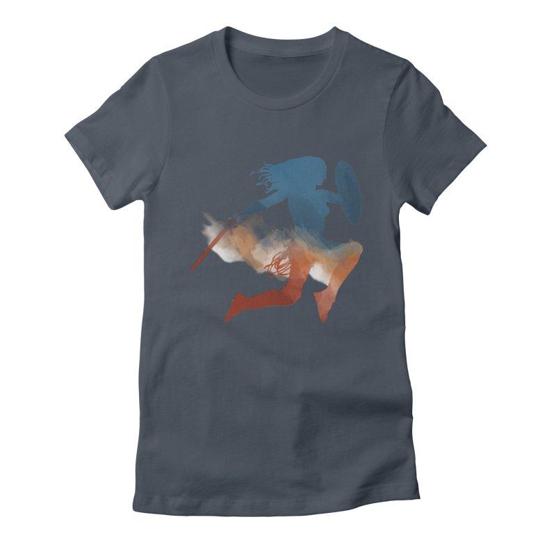 Wonder Woman Women's Fitted T-Shirt by LLUMA Design