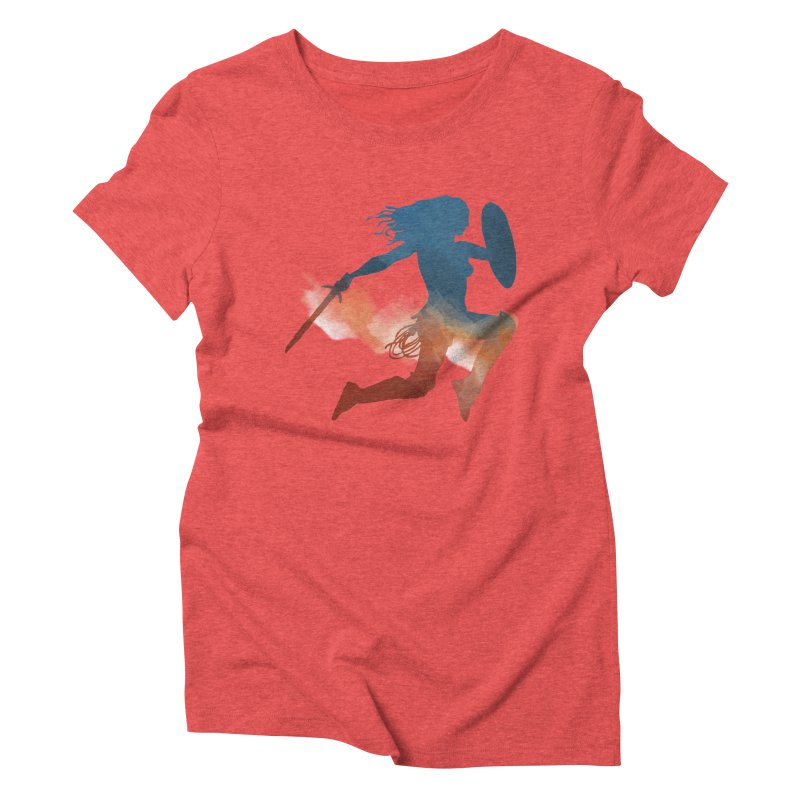 Wonder Woman Women's Triblend T-shirt by LLUMA Design