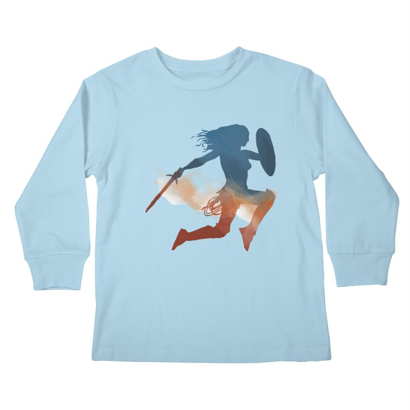 Wonder Woman Kids Longsleeve T-Shirt by LLUMA Design