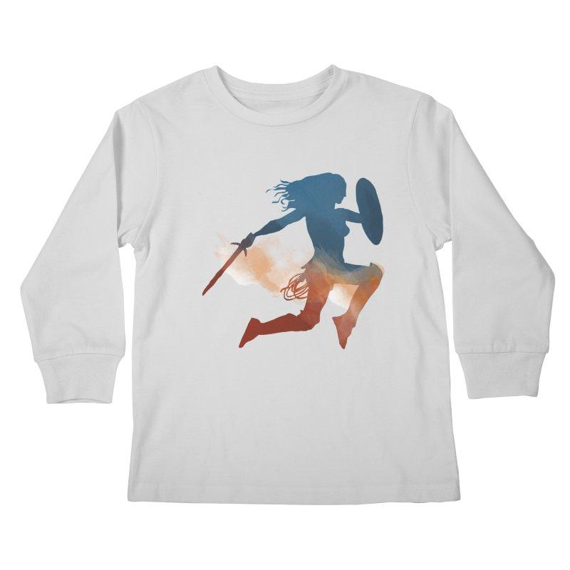 Wonder Woman Kids Longsleeve T-Shirt by LLUMA Design