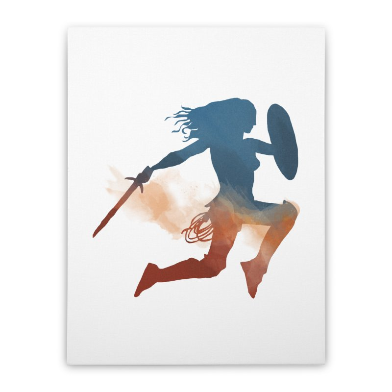 Wonder Woman Home Stretched Canvas by LLUMA Design