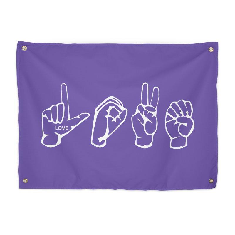 ASL LOVE Home Tapestry by LLUMA Design