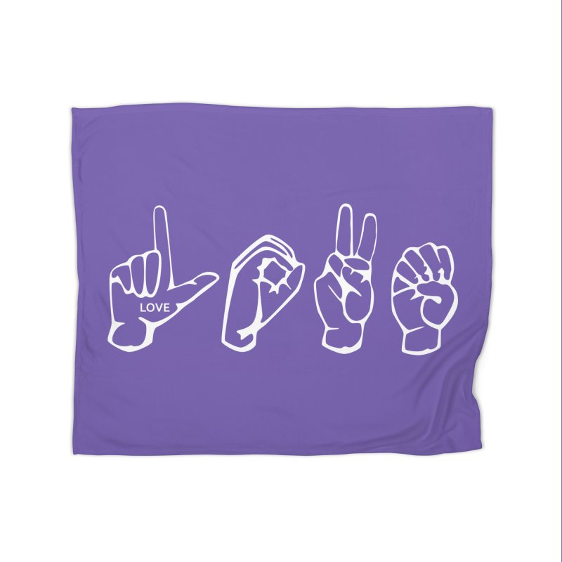 ASL LOVE Home Blanket by LLUMA Design