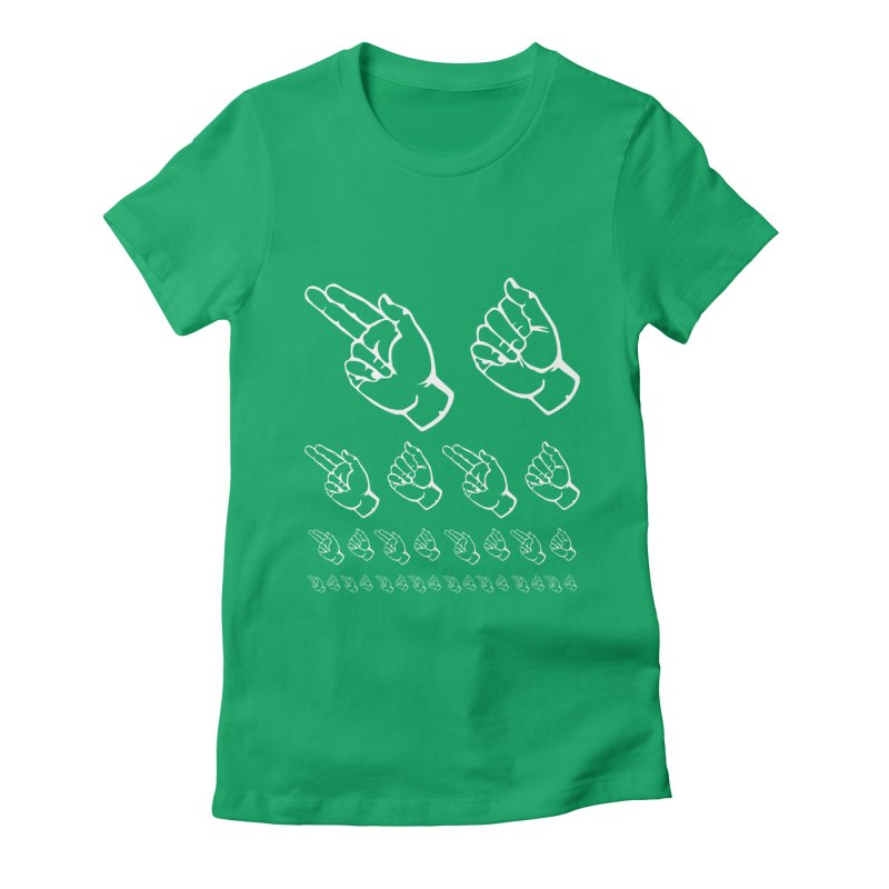 HAHA ASL Women's Fitted T-Shirt by LLUMA Design