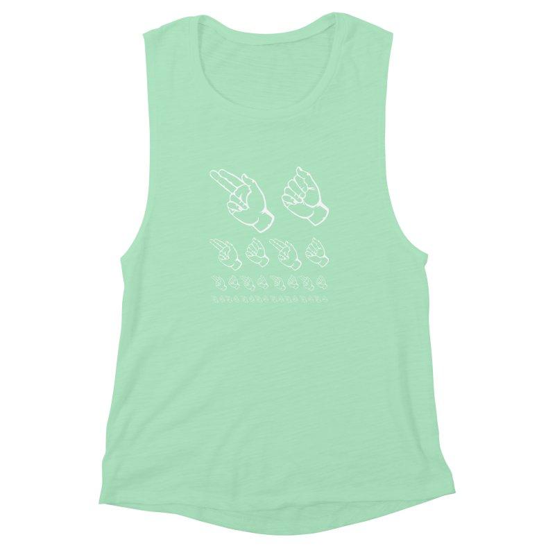 HAHA ASL Women's Muscle Tank by LLUMA Design