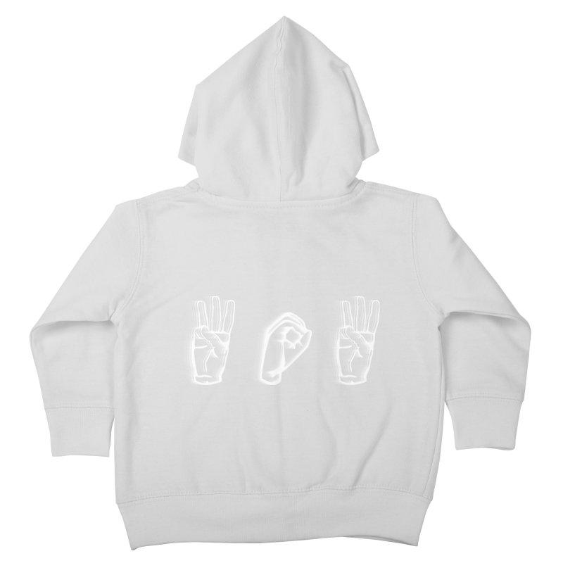 WOW ASL Kids Toddler Zip-Up Hoody by LLUMA Design