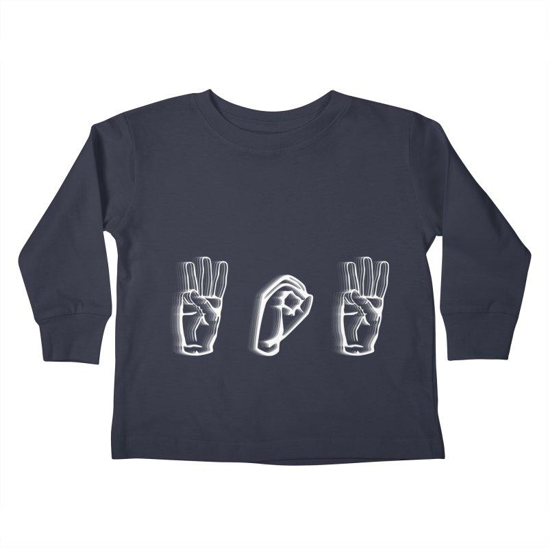 WOW ASL Kids Toddler Longsleeve T-Shirt by LLUMA Design