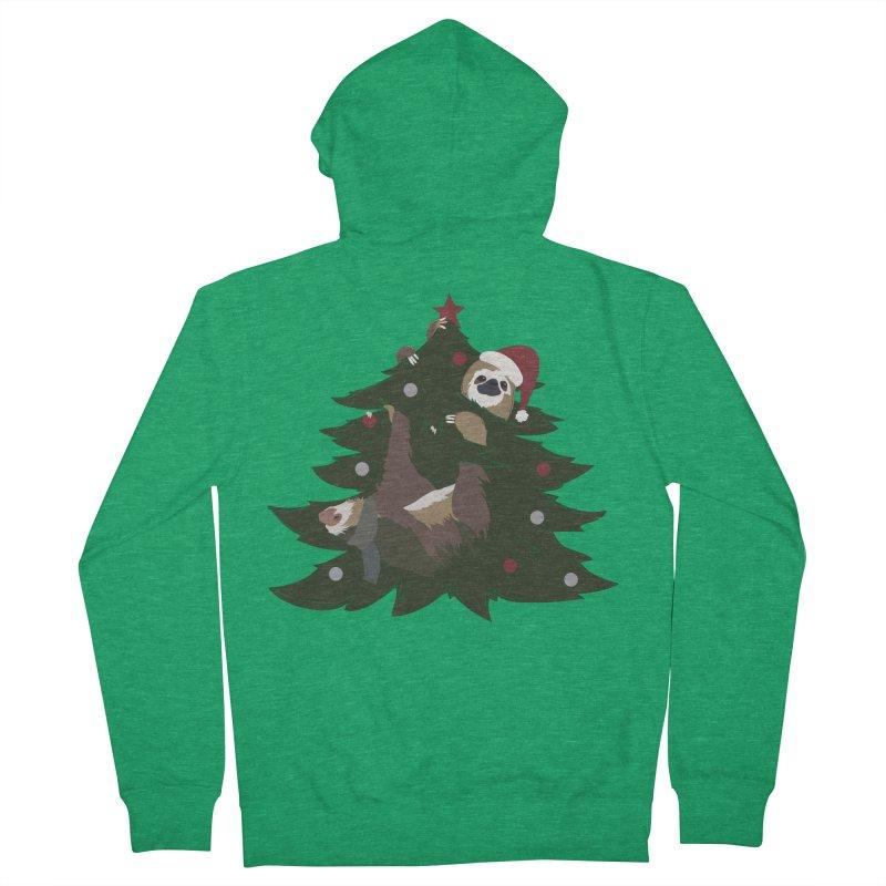 Merry Slothmas Women's Zip-Up Hoody by LLUMA Design