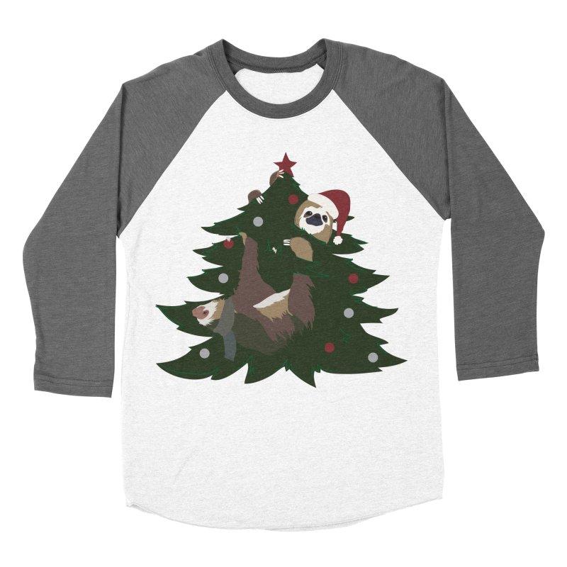 Merry Slothmas Men's Baseball Triblend T-Shirt by LLUMA Design