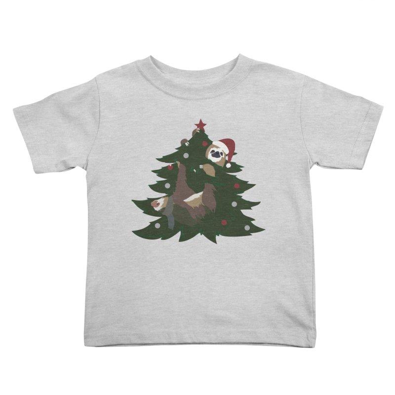Merry Slothmas Kids Toddler T-Shirt by LLUMA Design
