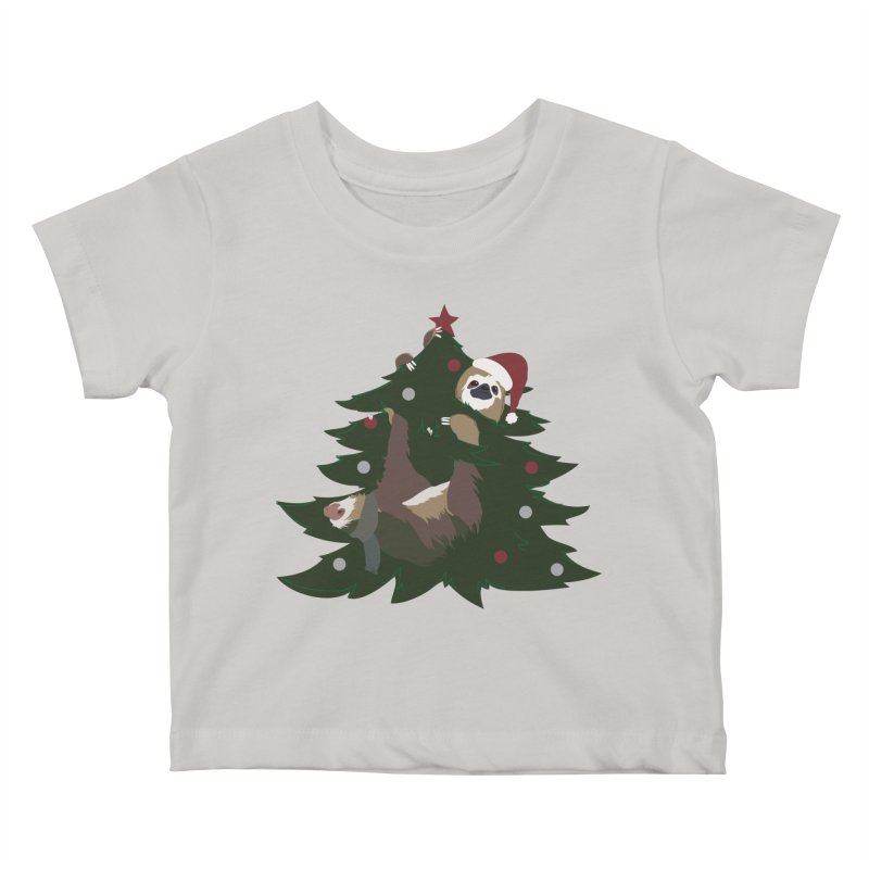 Merry Slothmas Kids Baby T-Shirt by LLUMA Design