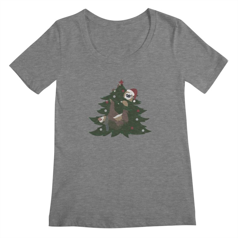 Merry Slothmas Women's Scoopneck by LLUMA Design