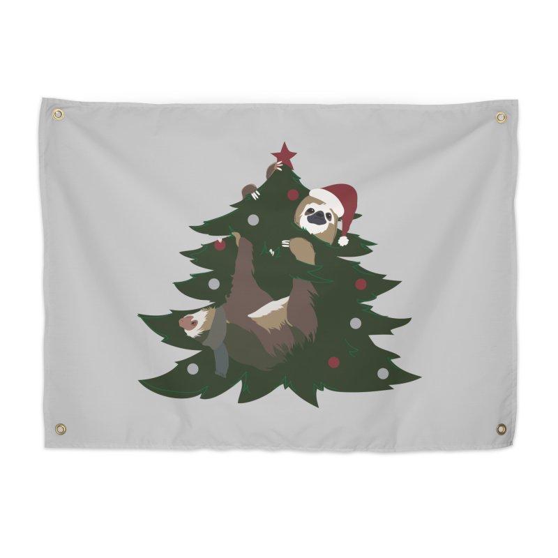 Merry Slothmas Home Tapestry by LLUMA Design