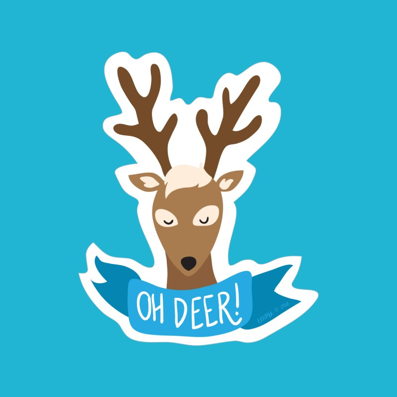Oh Deer! - Sticker Shirt Men's Pullover Hoody by LLUMA Creative Design