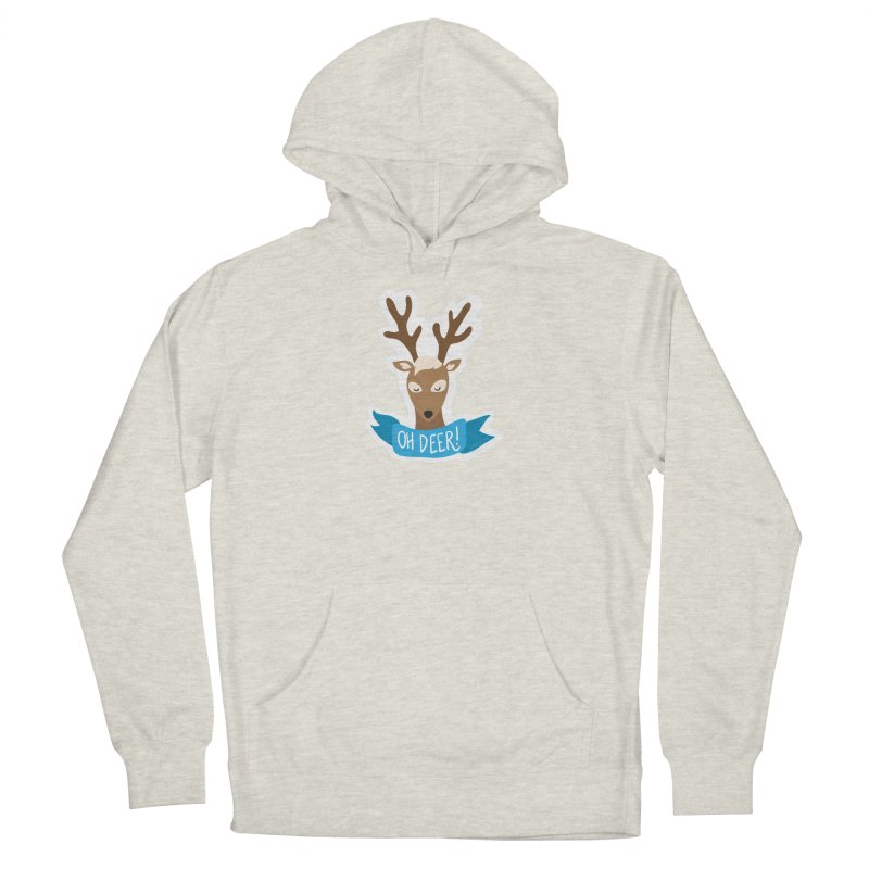 Oh Deer! - Sticker Shirt Men's French Terry Pullover Hoody by LLUMA Creative Design