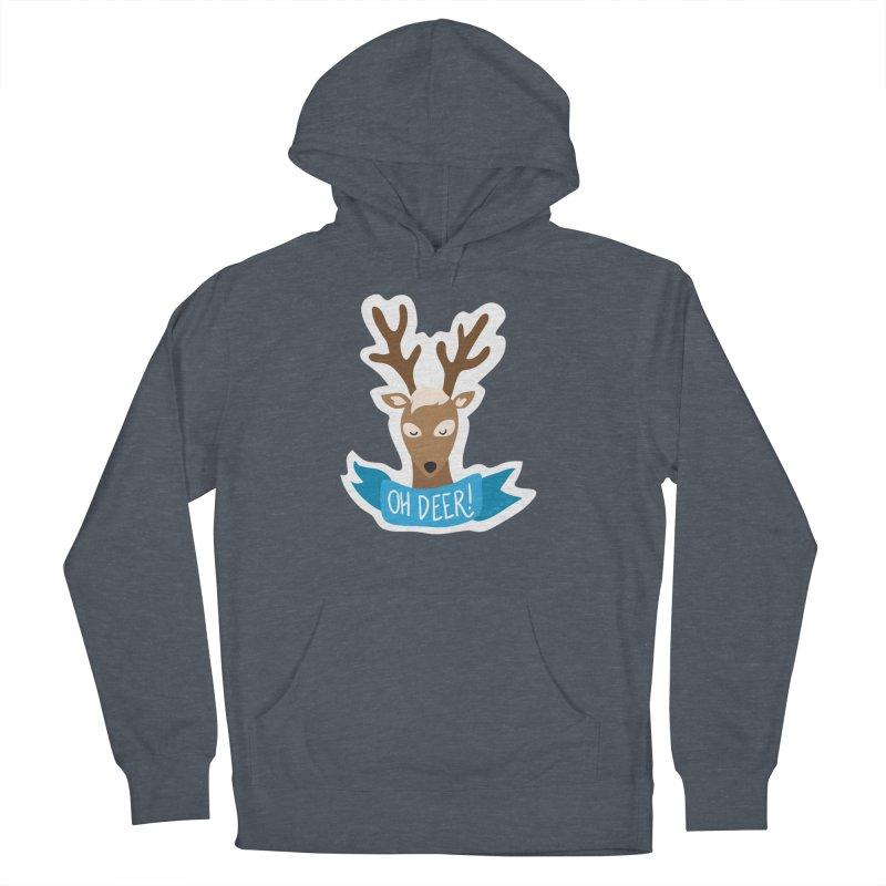 Oh Deer! - Sticker Shirt Women's Pullover Hoody by LLUMA Creative Design