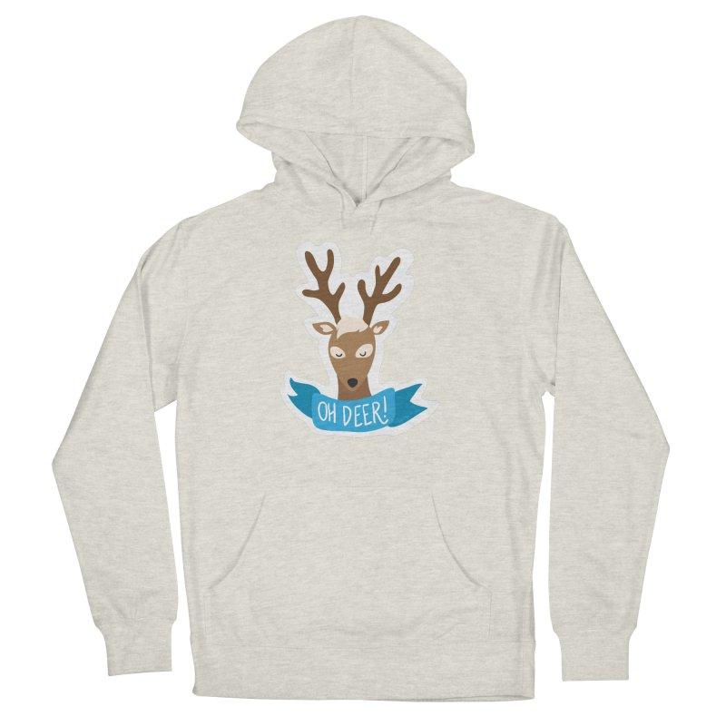 Oh Deer! - Sticker Shirt Women's French Terry Pullover Hoody by LLUMA Creative Design