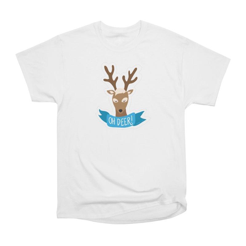 Oh Deer! - Sticker Shirt Men's Heavyweight T-Shirt by LLUMA Creative Design