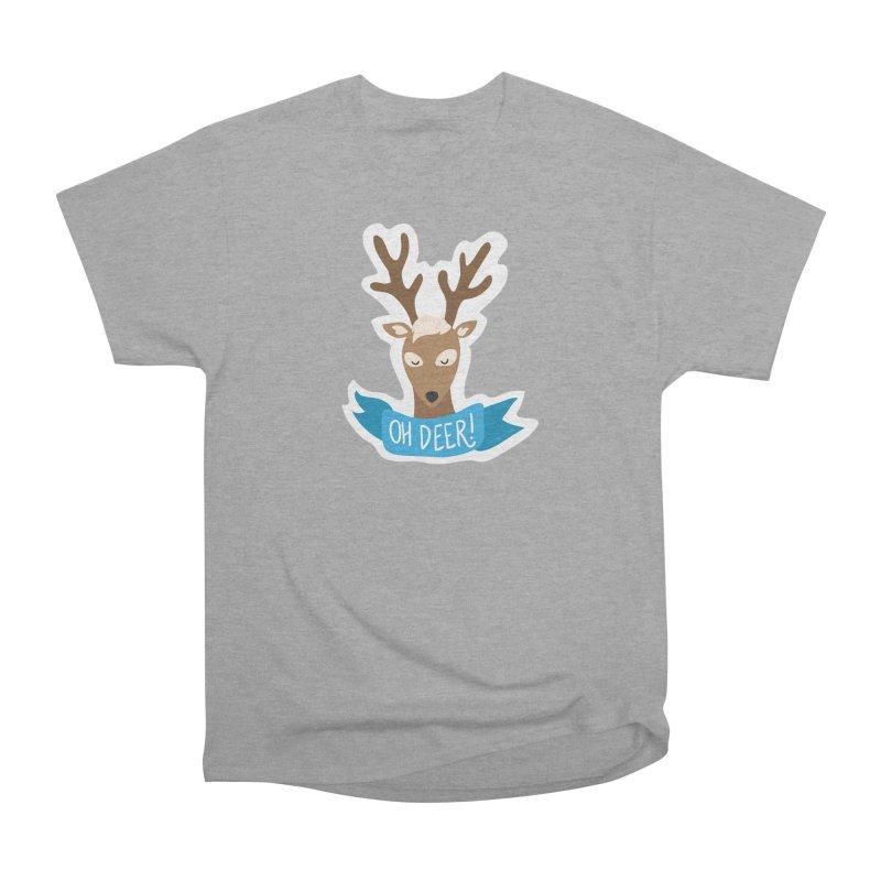 Oh Deer! - Sticker Shirt Women's Heavyweight Unisex T-Shirt by LLUMA Creative Design