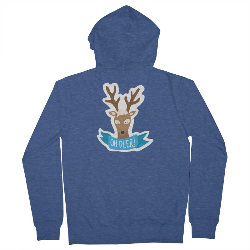 Oh Deer! - Sticker Shirt Women's French Terry Zip-Up Hoody by LLUMA Creative Design