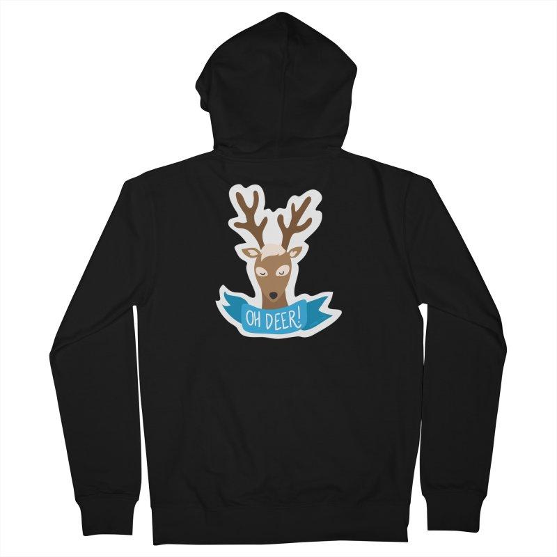 Oh Deer! - Sticker Shirt Men's Zip-Up Hoody by LLUMA Creative Design
