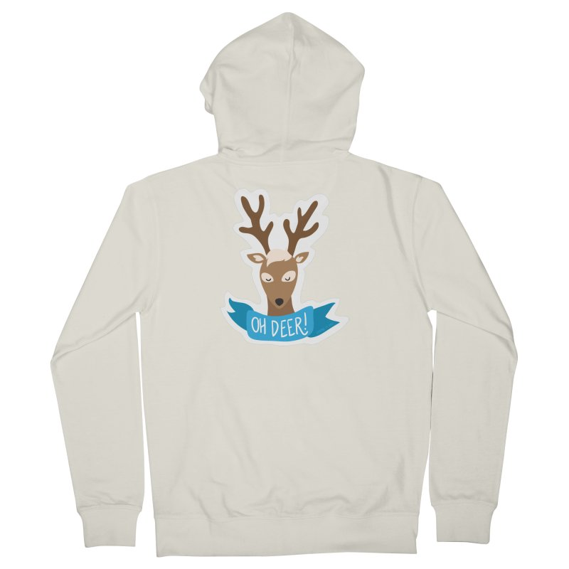 Oh Deer! - Sticker Shirt Men's French Terry Zip-Up Hoody by LLUMA Creative Design