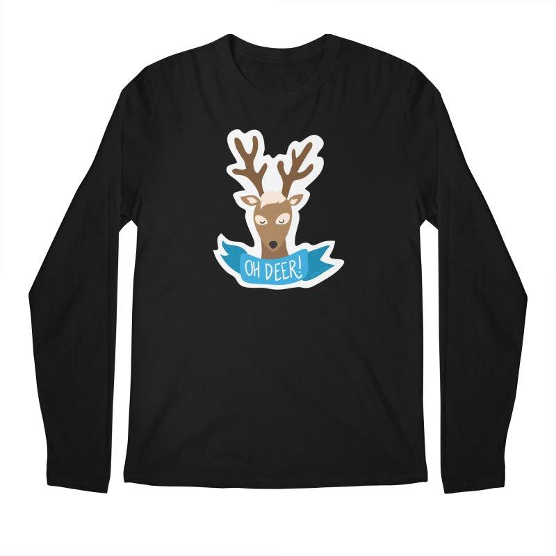 Oh Deer! - Sticker Shirt Men's Regular Longsleeve T-Shirt by LLUMA Creative Design