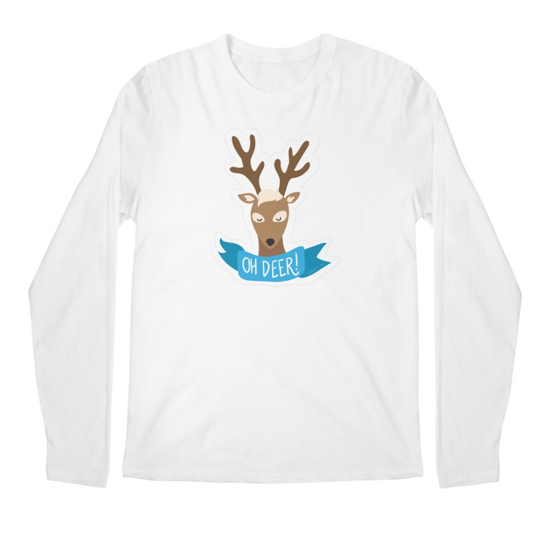 Oh Deer! - Sticker Shirt Men's Longsleeve T-Shirt by LLUMA Creative Design
