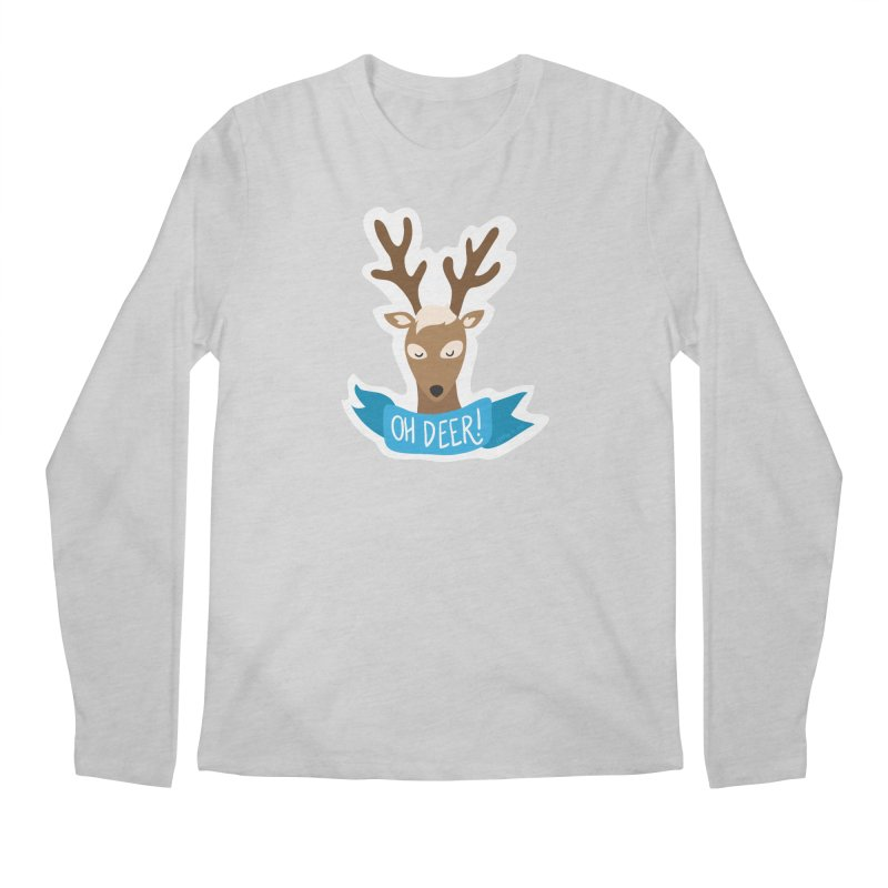 Oh Deer! - Sticker Shirt Men's Regular Longsleeve T-Shirt by LLUMA Creative Design