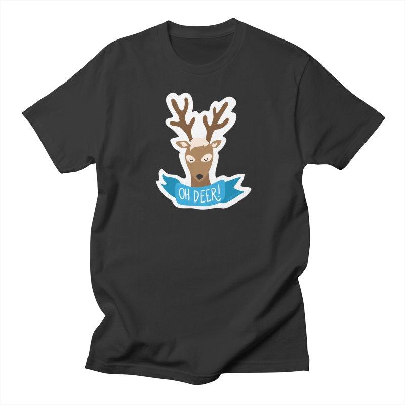 Oh Deer! - Sticker Shirt Women's Regular Unisex T-Shirt by LLUMA Creative Design