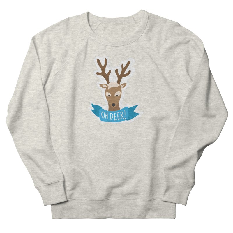 Oh Deer! - Sticker Shirt Women's French Terry Sweatshirt by LLUMA Creative Design