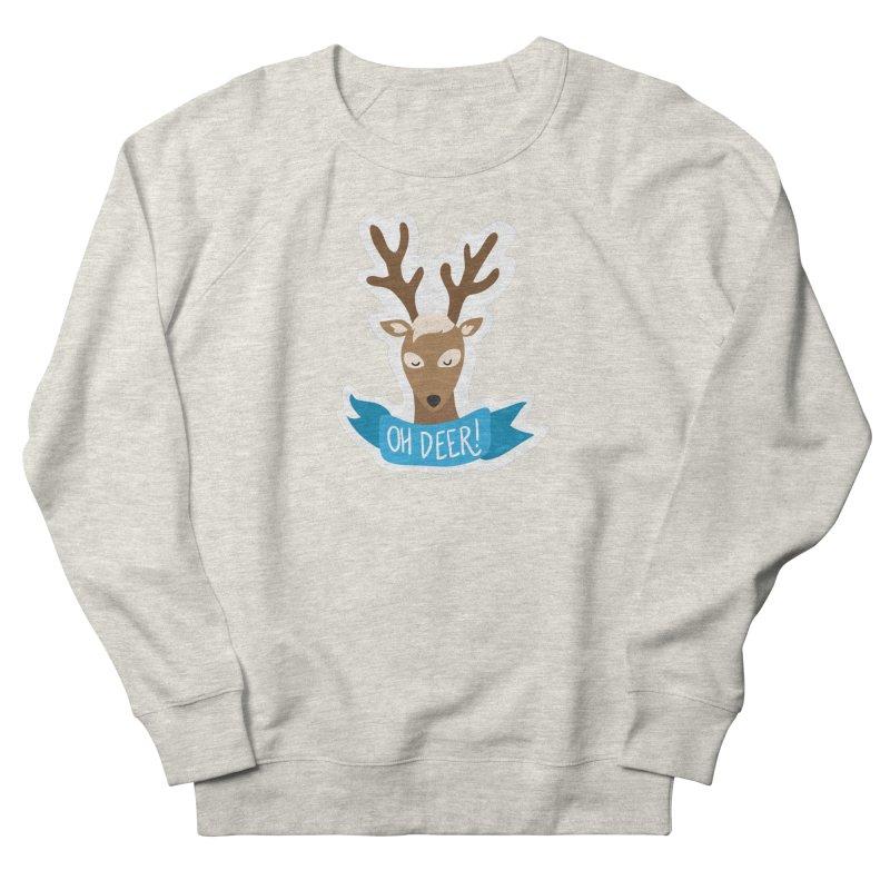 Oh Deer! - Sticker Shirt Men's French Terry Sweatshirt by LLUMA Creative Design