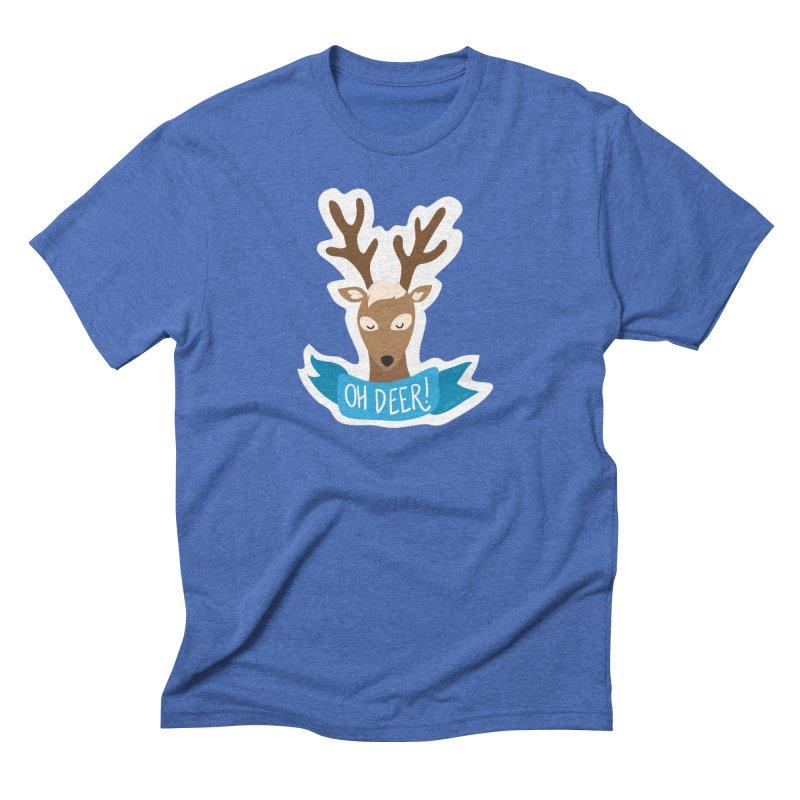 Oh Deer! - Sticker Shirt Men's Triblend T-Shirt by LLUMA Creative Design