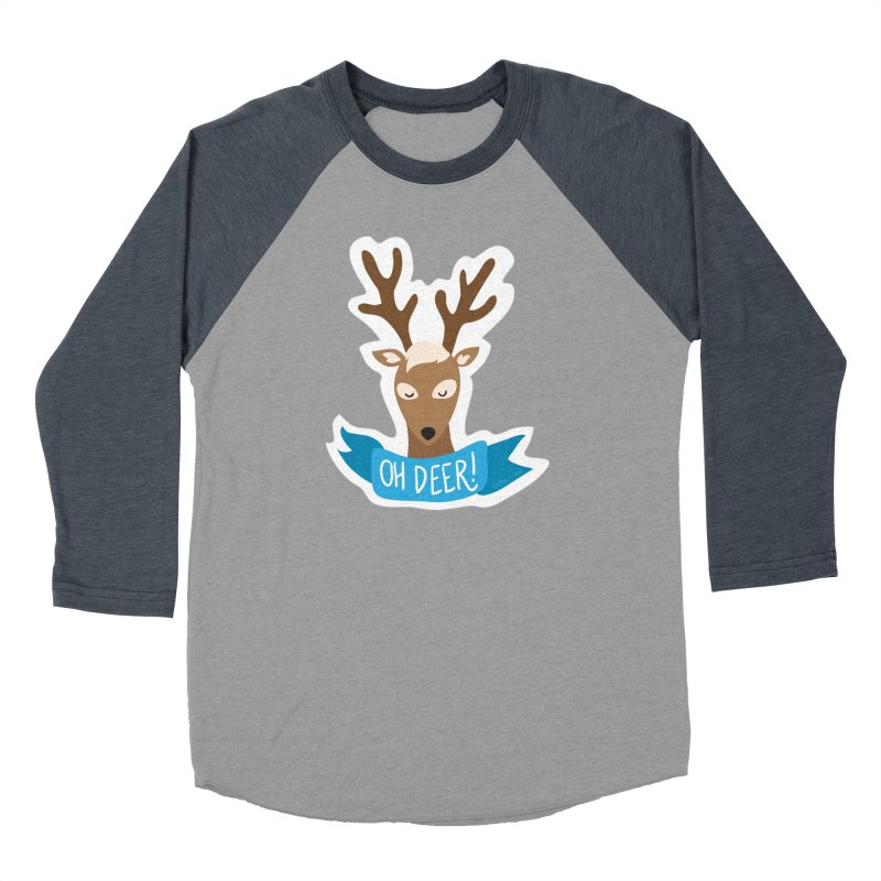 Oh Deer! - Sticker Shirt Men's Baseball Triblend Longsleeve T-Shirt by LLUMA Creative Design