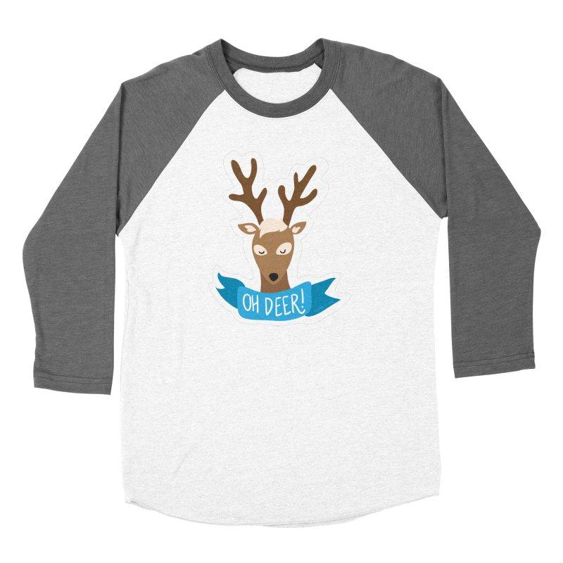 Oh Deer! - Sticker Shirt Men's Baseball Triblend Longsleeve T-Shirt by LLUMA Creative Design