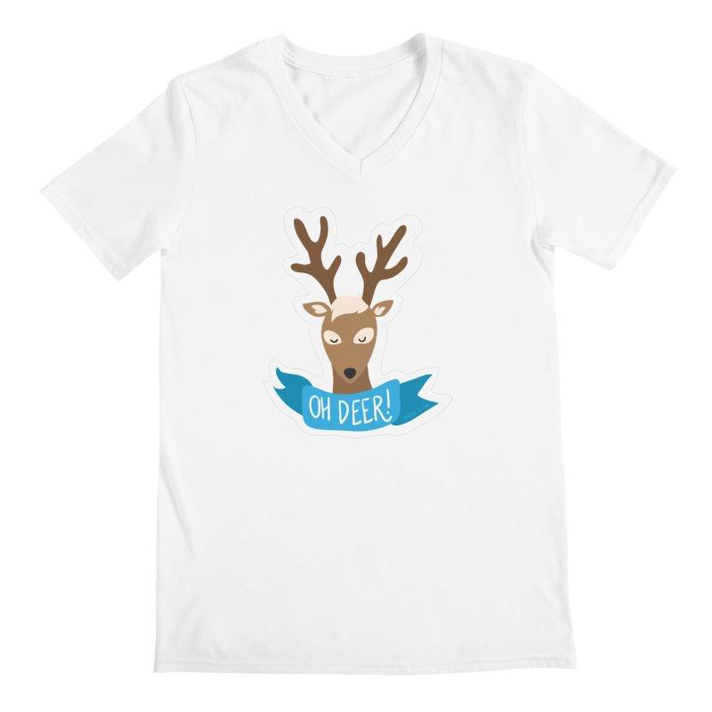 Oh Deer! - Sticker Shirt Men's V-Neck by LLUMA Creative Design