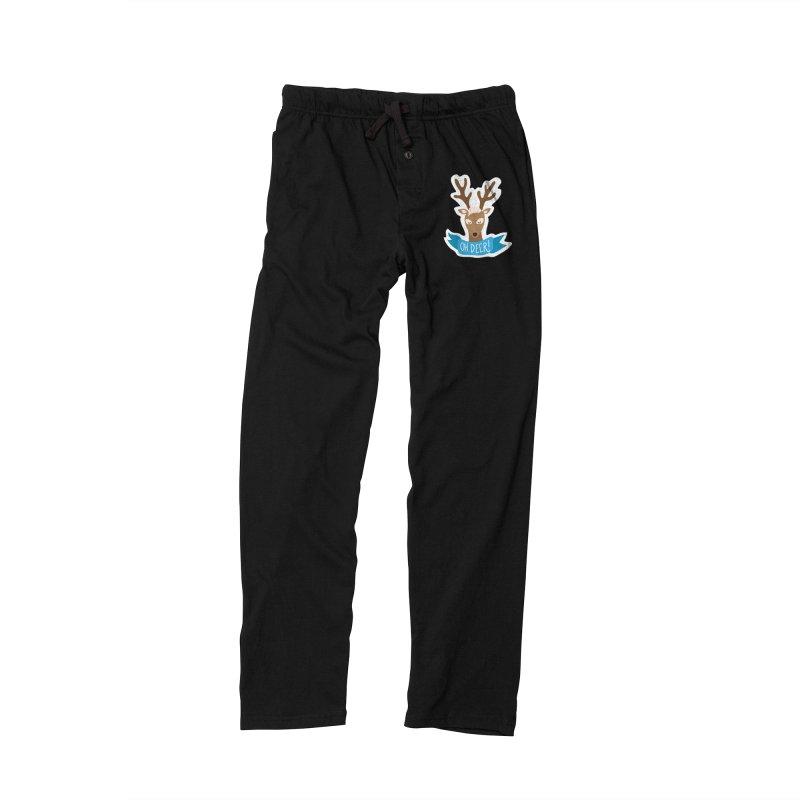 Oh Deer! - Sticker Shirt Men's Lounge Pants by LLUMA Creative Design