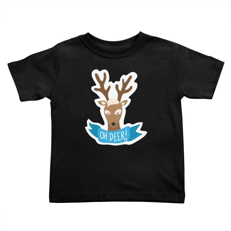 Oh Deer! - Sticker Shirt Kids Toddler T-Shirt by LLUMA Creative Design