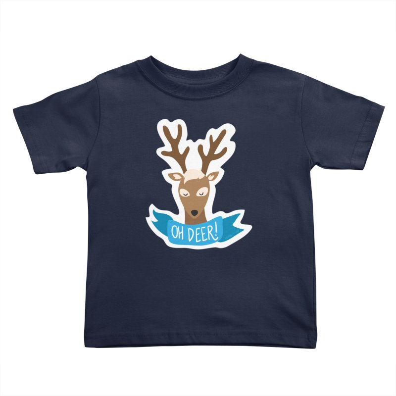 Oh Deer! - Sticker Shirt Kids Toddler T-Shirt by LLUMA Creative Design