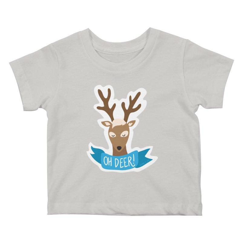 Oh Deer! - Sticker Shirt Kids Baby T-Shirt by LLUMA Creative Design
